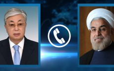 President Kassym-Jomart Tokayev had a telephone conversation with President of Iran Hassan Rouhani