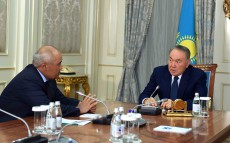 "Meeting with ""Samruk-Kazyna"" Board Chairman Umirzak Shukeyev"