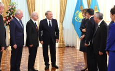 Meeting with participants of the international conference on the Constitution Day of Kazakhstan