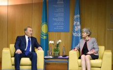 Meeting with UNESCO Director General Irina Bokova