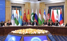 The President of Kazakhstan takes part in the meeting of the Council of Heads of State of SCO