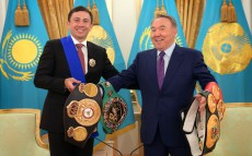 Meeting with Gennady Golovkin, boxing world champion