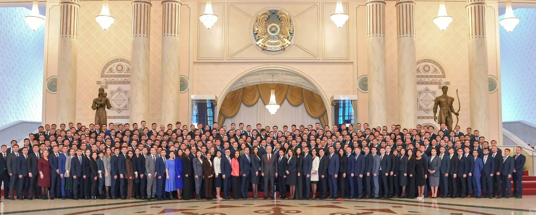 Kassym-Jomart Tokayev met with members of the Presidential youth personnel reserve