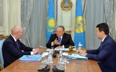 "Meeting with Governor of ""Astana"" International Financial Centre Kairat Kelimbetov"